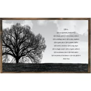 Forest Creations Magnet Print Life is  Framed Graphic Art