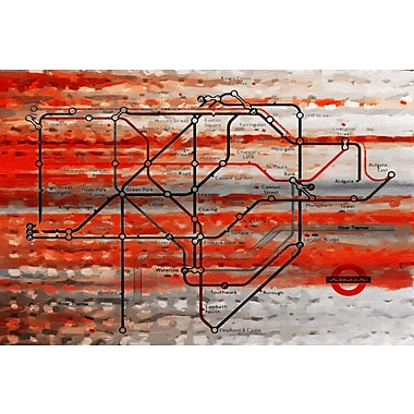 Marmont HIll 'London Tube' Painting Print on Wrapped Canvas; 16'' H x 24'' W