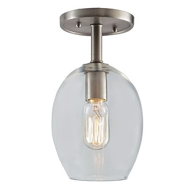 JVI Designs Grand Central 1-Light Semi Flush Mount; Gun Metal