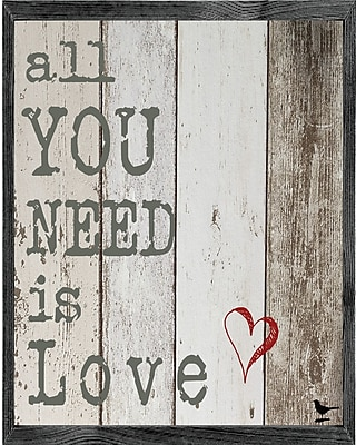 Forest Creations Magnet All You Need is Love Framed Textual Art
