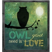 Forest Creations Magnet Print Owl You Need is Love Framed Graphic Art