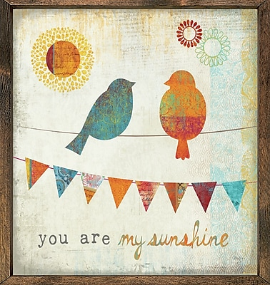 Forest Creations Magnet Print You are My Sunshine Framed Graphic Art