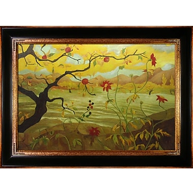 Tori Home Apple Tree w/ Red Fruit Ranson by Paul-Elie Framed Painting