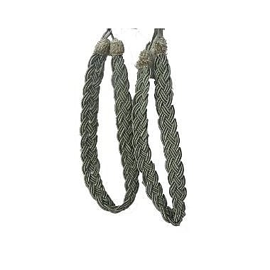 Quickway Imports Rope Curtain Tieback (Set of 2); Silver/Green