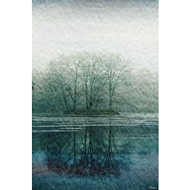 Marmont HIll 'Apple Lake' Painting Print on Wrapped Canvas; 18'' H x 12'' W