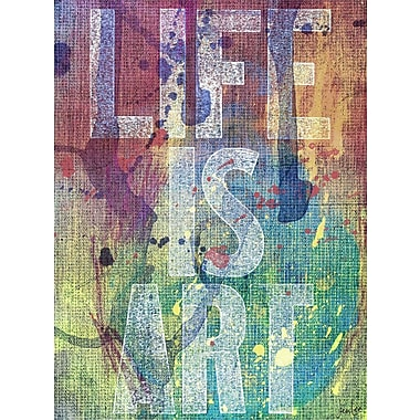 Marmont HIll 'Life Is Art' by Jen Lee Painting Print on Wrapped Canvas; 36'' H x 24'' W