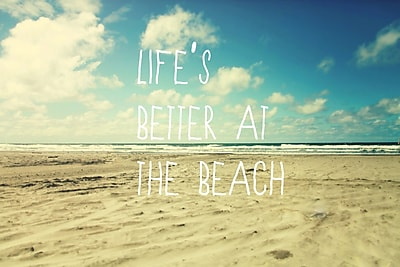 Marmont HIll 'Life's Better At The Beach' Graphic Art Print on Wrapped Canvas; 12'' H x 18'' W