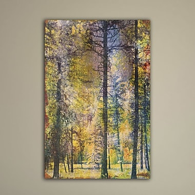 Marmont HIll 'Walk In The Woods' by Jen Lee Painting Print on Wrapped Canvas; 18'' H x 12'' W