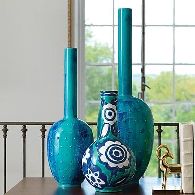 Global Views Painted Gourd Vase; Small