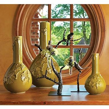 Global Views Gingko Crackle Vase; Medium