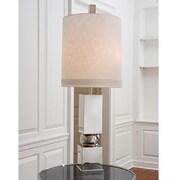 Global Views Organic Squeeze 51.5'' Floor Lamp; Nickel