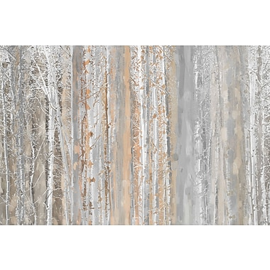 Marmont HIll 'Aspen Forest 1' Painting Print on Wrapped Canvas; 16'' H x 24'' W