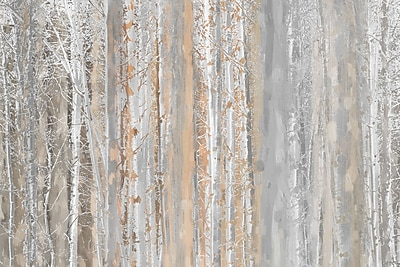 Marmont HIll 'Aspen Forest 1' Painting Print on Wrapped Canvas; 40'' H x 60'' W x 1.5'' D