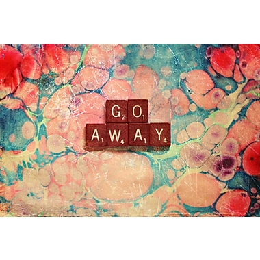 Marmont HIll 'Go Away' by Sylvia Cook Painting Print on Wrapped Canvas; 30'' H x 45'' W