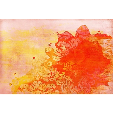 Marmont HIll 'Abstract Red' Painting Print on Wrapped Canvas; 16'' H x 24'' W