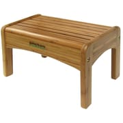 Ginsey 1-Step Bamboo Growing Up Green Step Stool w/ 200 lb. Load Capacity