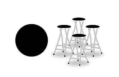 Best of Times 29'' Patio Bar Stool w/ Cushion (Set of 4); Black