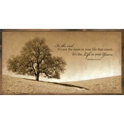 Forest Creations Magnet Print Life in Your Years Framed Graphic Art