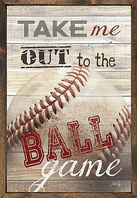 Forest Creations Magnet Print Take Me Out To the Ball Game Framed Textual Art