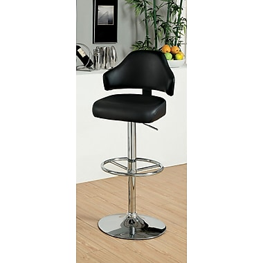 Hokku Designs Adjustable Height Swivel Bar Stool; Black