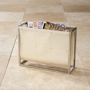 Global Views Magazine Caddy Rack; Beige Leather