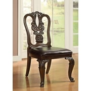 Hokku Designs Genuine Leather Upholstered Dining Chair (Set of 2)