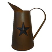 Craft Outlet Star Pitcher; Antique Rusty and Black