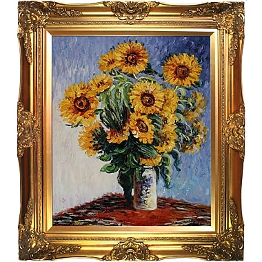 Tori Home Sunflowers by Claude Monet Framed Painting Print