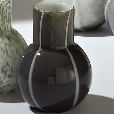 Global Views Bubble Vase; Dark Grey