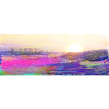 Marmont HIll 'The View' by Jen Lee Painting Print on Wrapped Canvas; 30'' H x 60'' W