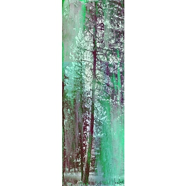 Marmont HIll 'Be Still' by Jen Lee Painting Print on Wrapped Canvas; 45'' H x 15'' W