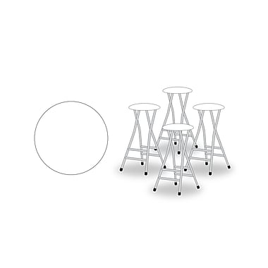Best of Times 29'' Bar Stool w/ Cushion (Set of 4); White