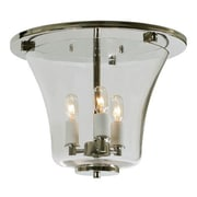 JVI Designs Greenwich 3-Light Semi Flush Mount; Polished Nickel