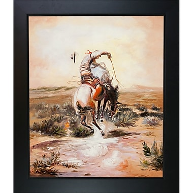 Tori Home A Slick Rider by Charles Marion Russell Framed Painting Print