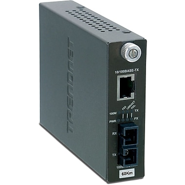 TRENDnet Intelligent 10/100Base-TX to 100Base-FX Single Mode SC Fiber Converter