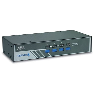TRENDnet 4-Port Rack Mount KVM Switch
