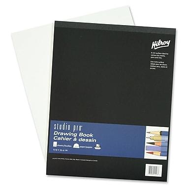 Hilroy – Cahier à dessin Studio Pro, 50 feuilles, 11 x 14 po, noir