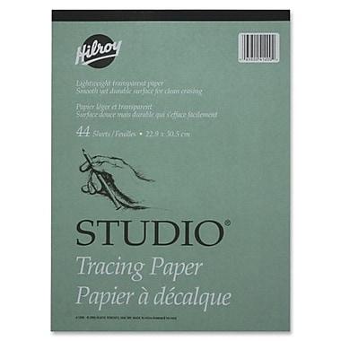 Hilroy - Bloc de papier-calque, 9 po x 12 po, 44 feuilles