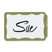 "C-Line Full Self-Adhesive Name Badges, 2.25"" x 3.5"", Gold Border, 100/Pack"