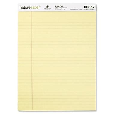 Naturesaver - Bloc de papier réglé de format légal, recyclé à 100 %, 8,5 po x 11,75 po