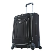 "Olympia Luxe Expandable Carry On Upright Bag 21"", Black"