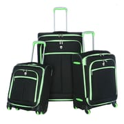 Olympia Polyester O-Tron 3-piece Spinner Luggage Set