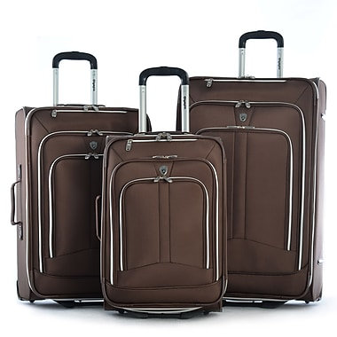 Olympia Polyester Hamburg Luggage Set Three Piece, Brown
