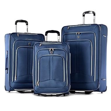 Olympia Polyester Hamburg Luggage Set Three Piece, Navy