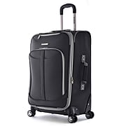 """Olympia Polyester Tuscany Expandable Vertical Rolling Case 25"""", Black"""