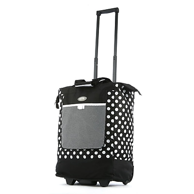 Olympia Nylon Rolling Shopper Tote One Size, Black
