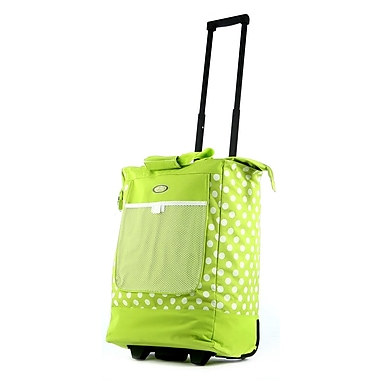 Olympia Nylon Rolling Shopper Tote One Size, Lime
