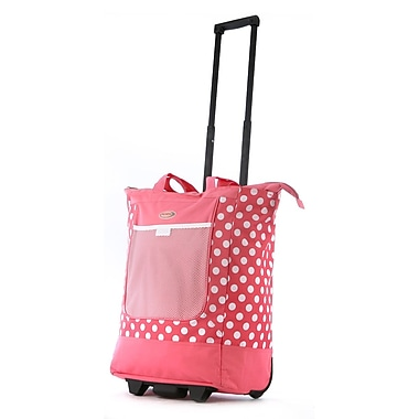 Olympia Nylon Rolling Shopper Tote One Size, Pink
