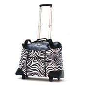 "Olympia Deluxe Fashion Rolling Tote, 18.5"" Zebra"