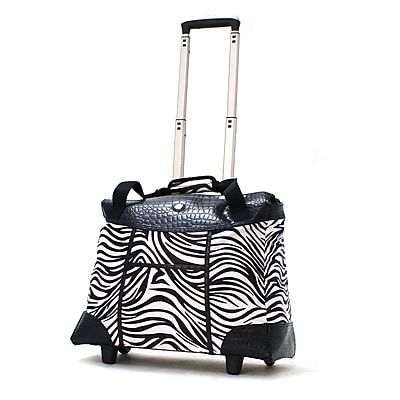Olympia Deluxe Fashion Rolling Tote, 18.5